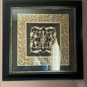 Black frame print